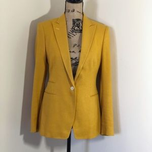 TAGLIATORE Fitted Textured Blazer *42 EU 6 US